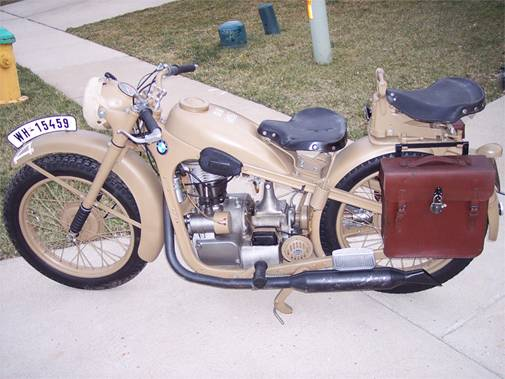 WWII BMW R35 Restored Motorcycle