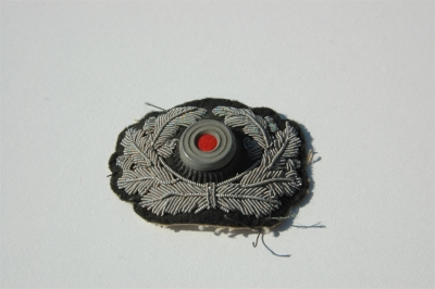 WHERMACHT HEER OFFICER SILVER WIRE BULLION CAP WREATH