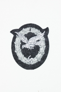 Reproduction Luftwaffe Air Gunners Cloth Badge