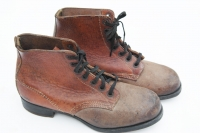Rare pair of German Army Unissued short ankle RBNr. marked boots