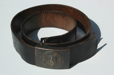 German WWII Kreigsmarine Coastal Artillery Belt and Buckle