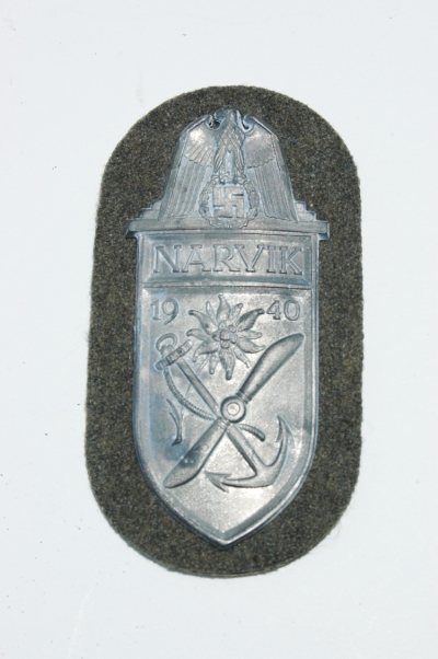 Reproduction German WWII Narvik Shield, Recently Sold as Original