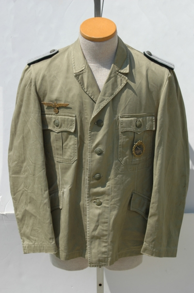 KREIGSMARINE COASTAL ARTILLERY OFFICERS SUMMER TUNIC