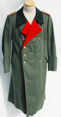 HEER Army Veterinarian General's Greatcoat and Helmet