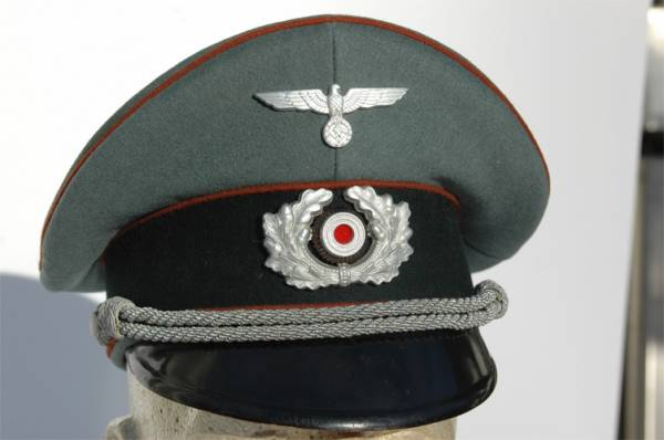 Mint Army (WH) Officers Copper Brown piped visor