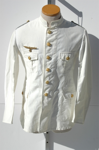 SUMMER WHITE KREIGSMARINE OFFICERS TUNIC
