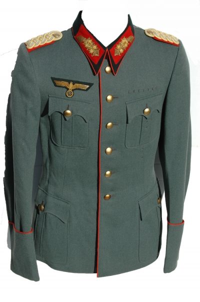 German WWII Army Generals (HEER) Piped Service Tunic