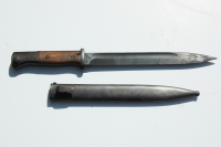 German WWII K98 Bayonet and Scabbard 1943