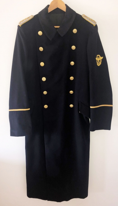 German WWII Water Protection Police Greatcoat