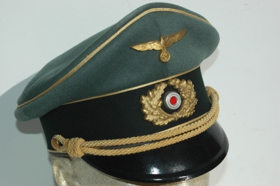German WWII Army (HEER) Named Generals Visor Cap