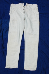 German WWII Summer White Trousers Army/LW/Kreigsmarine