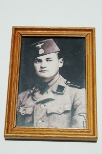 Rare German WWII Waffen-SS Picture of a Croatian Soldier in Frame