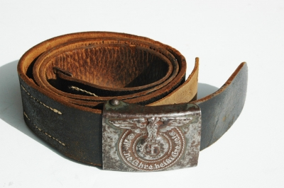 Waffen-SS enlisted Belt Buckle and Combat Belt  Rodo