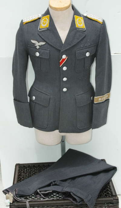 German WWII Luftwaffe Officers High Ranking Pilots Tunic and Trousers
