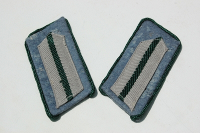 German WWII Army (HEER) Administration Officials Collar Tab Set Unissued