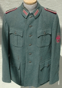 RARE German WWII Wartime FirePolice Enlisted/NCO Tunic Unissued