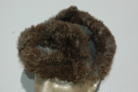 German WWII Army (HEER) Combat Worn Fur Cap
