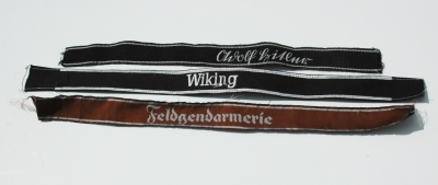 Reproduction SS and Police Cufftitles