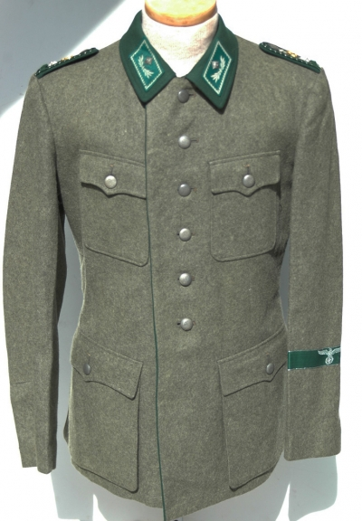 German WWII Rare Customs Field Worn Tunic
