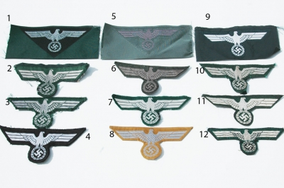 Reproduction German WWII Enlisted Breast Eagles