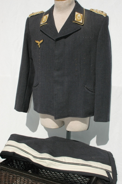 German WWII Luftwaffe Generals Flight Blouse and Matching Trousers