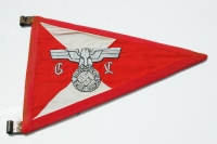 Rare German WWII Gauleitung Vehicle Pennant
