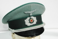 German WWII Army (HEER) Adminstration Officers Visor  EreL