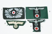 Reproduction German WWII Army Cap Eagles and Insignia