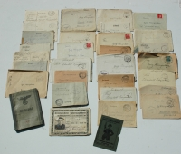 Large Group Wherpass and Letters and Hunting Licence