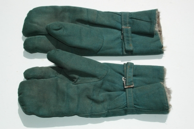 German WWII Police Winter Fur Lined Gloves