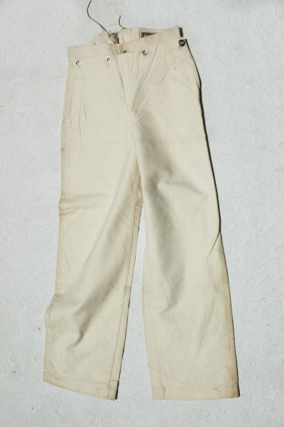 German Hitler Youth Marine HJ White Summer Trousers