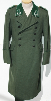 German WWII Forestry Officers Greatcoat Dated 1943