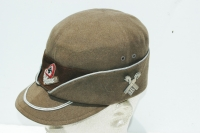 German WWII RAD Officers Robin Hood cap with Traditions Badge